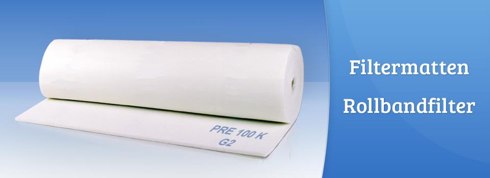 Filtermatten und Rollbandfilter